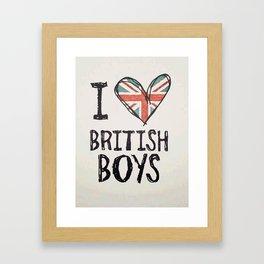 One Direction - I love British boys Framed Art Print