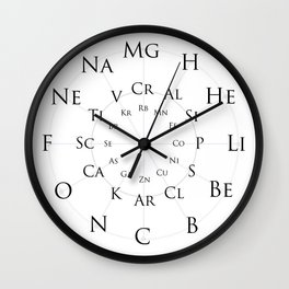 Periodic Elements Wall Clock Wall Clock
