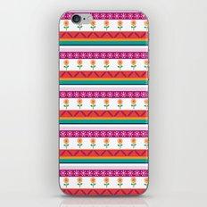 flower dot stripe iPhone & iPod Skin