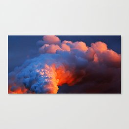 Contrasting Clouds Canvas Print
