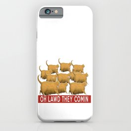 Funny Chonk Cats Meme  iPhone Case