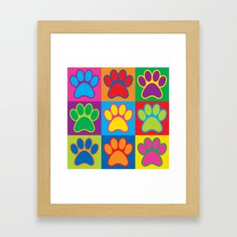 Pop Art Paws Framed Art Print