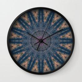 Delicate Navy Blue Bohemian Mandala Wall Clock