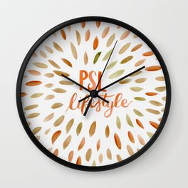Pumpkin Spice Lifestyle Wall Clock