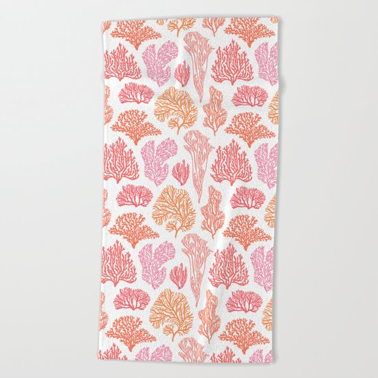 Coral Mania Beach Towel