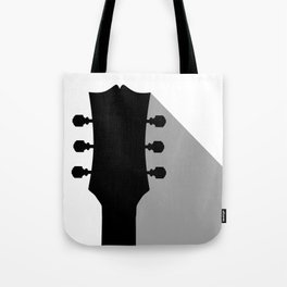 Guitar Headstock With Shadow Tote Bag