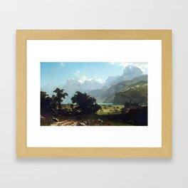 Albert Bierstadt Lake Lucerne Framed Art Print