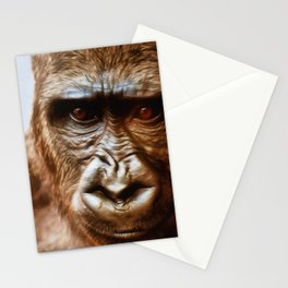 COMPASSION OF THE GORILLA Stationery Cards