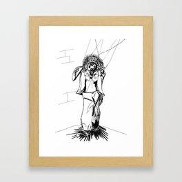 Puppet Man Framed Art Print