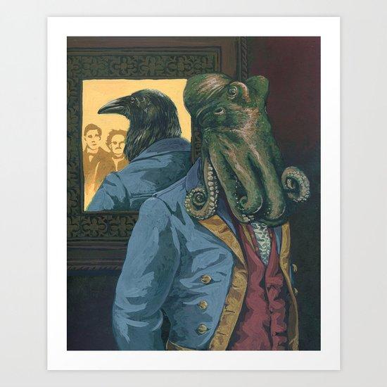 Lovecraft vs. Poe Art Print