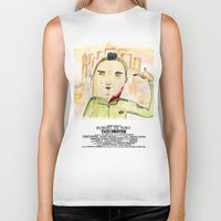 taxi driver Biker Tanks featuring Taxi Driver by Wakkala