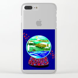 A Snow Globe of the Mountains of Kentucky Clear iPhone Case