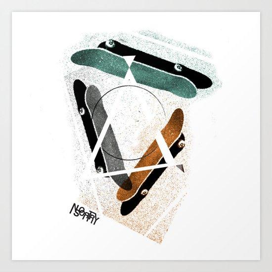 Skatestriangles Art Print