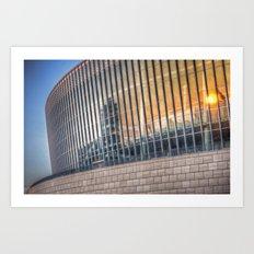Sunset on modern architecture  Art Print