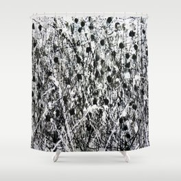 little black Shower Curtain