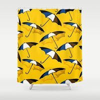 umbrella Shower Curtains featuring Umbrella  by Saundra Myles