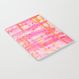Confetti Abstract High Flow Acrylic Painting Notebook
