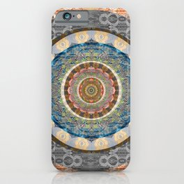 Elegance of Timeless Peace Boho Lace Depth Meditation Print iPhone Case