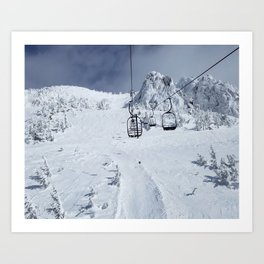 Mammoth Mountain: Chair 14 Art Print