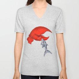 Great White Lobstah Lovah Unisex V-Neck