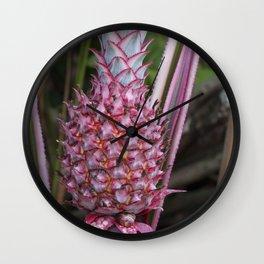 Ornamental Pineapple Wall Clock