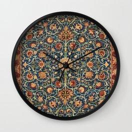 Holland Park Carpet by William Morris (1834-1896) Wall Clock