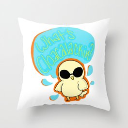 what's cloacalackin? Throw Pillow