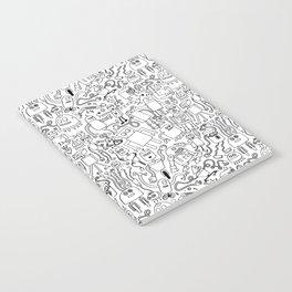 Infinity Robots Black & White Notebook