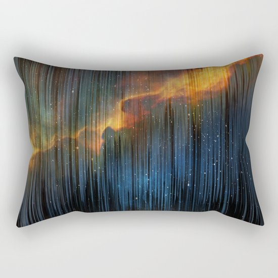 Planet Pixel Fall Down Rectangular Pillow