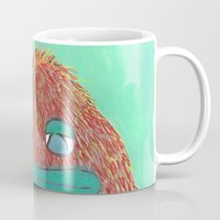 sasquatch Mugs featuring Rare Green-Lipped Sasquatch  by Grant Thomas