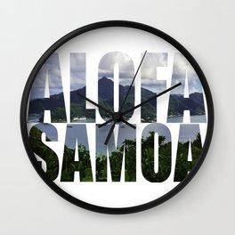 Alofa Samoa Wall Clock