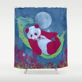 Goodnight, Panda - Colorful Starlight Night Sky Shower Curtain