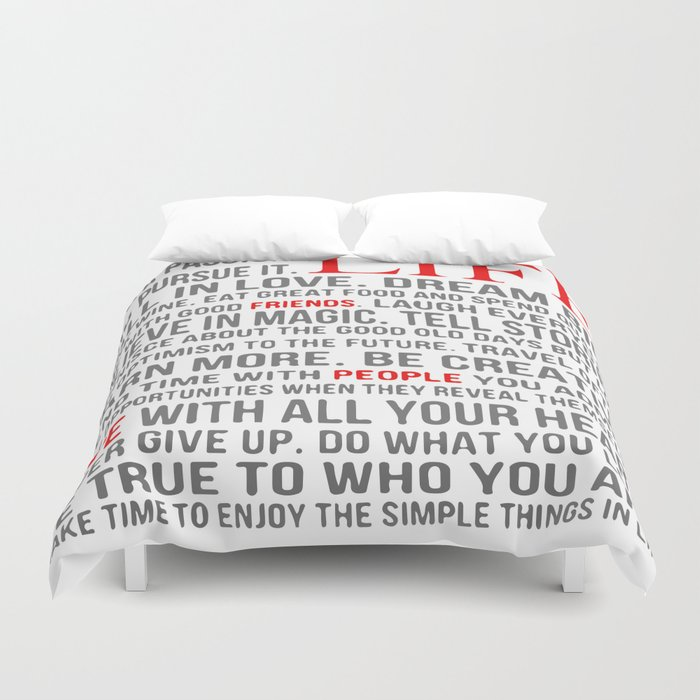 All about life Duvet Cover