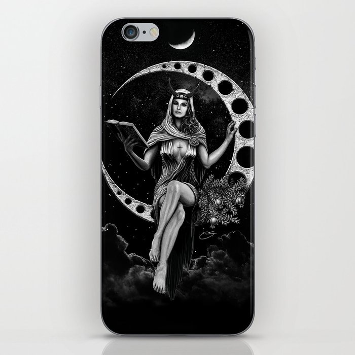 II. The High Priestess Tarot Card Illustration (Alternative Version) iPhone Skin