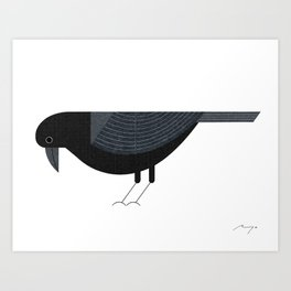 Jungle crow Art Print