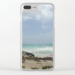 Tulum Ruins Clear iPhone Case