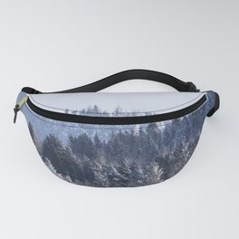 Blue shades in cold winter morning Fanny Pack