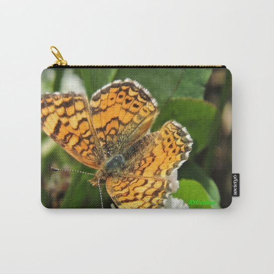 A Mylitta Crescent Butterfly at Rest Carry-All Pouch