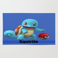 squirtle Area & Throw Rugs featuring Squirtle by Yamilett Pimentel
