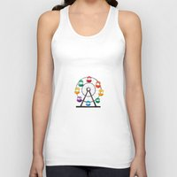 ferris wheel Tank Tops featuring Ferris Wheel by Bedelia June