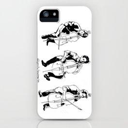 Cello player iPhone Case