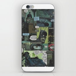 Bruce Wayne Comic Collage iPhone Skin