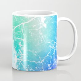 Modern turquoise purple watercolor abstract marble Coffee Mug