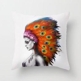 Peafowl Throw Pillow