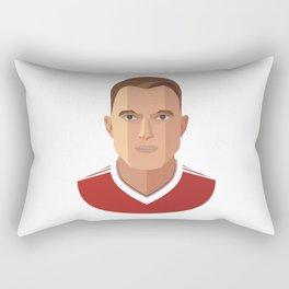 Phil Jones MUFC Flat Illustration Rectangular Pillow