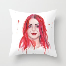 Frances Bean Cobain Throw Pillow
