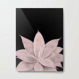 Blush Agave on Black #1 #tropical #decor #art #society6 Metal Print