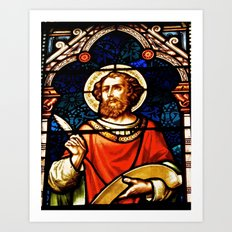 Saintly Glass Art Print