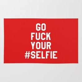 GO FUCK YOUR SELFIE (Red) Rug