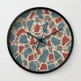 Modern Terrazzo Stones Pattern Wall Clock